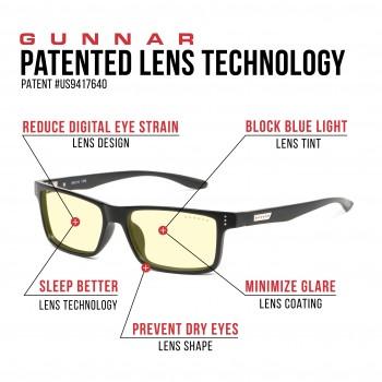 Ochelari de Citit si Protectie Calculator Gunnar VERTEX ONYX Amber +3.00