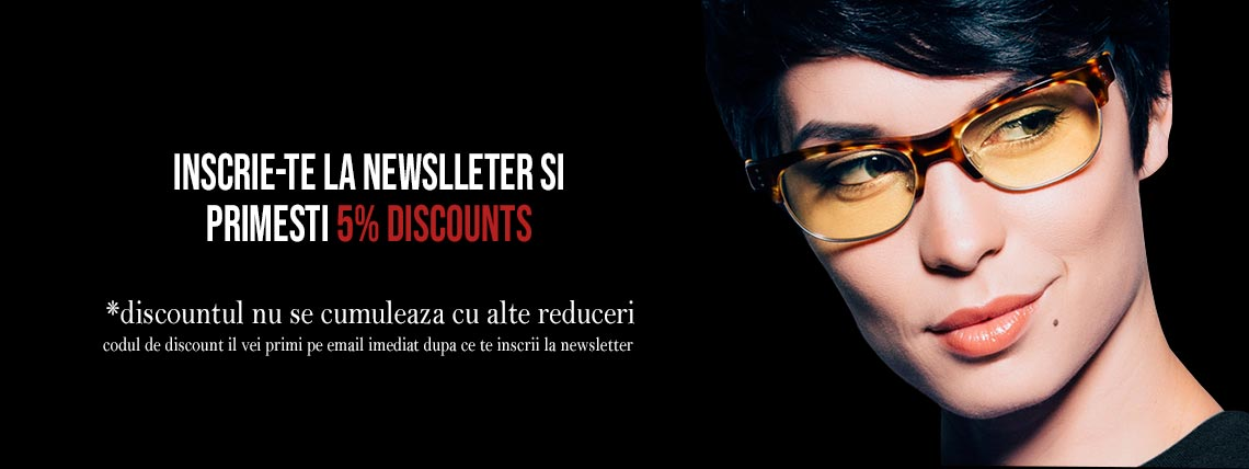 5% discount - inscriere newsletter